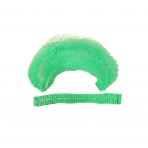 Одноразові шапочки (зелені), 100 шт.